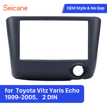 Seicane 2 Din Auto Radio Fascia per 1999 2000 2001 2002 2003 2004 2005 Toyota Vitz Yaris Echo Installare Telaio dash CD DVD pannello