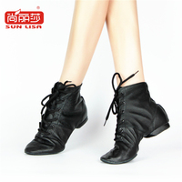 Ebuy360 SUN LISA Genuine Leather Jazz Women S Leather Boots For Soft Bottom Jazz Shoes Acrobatics