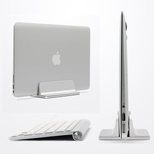 Adjustable Aluminum Vertical Laptop Stand for Macbook /imac Notebook Stand Erected Space-saving Desk Holder for iPad Pro 12.9 space saving aluminum vertical stand for laptop macbook pro air thickness adjustable desktop notebooks holder erected