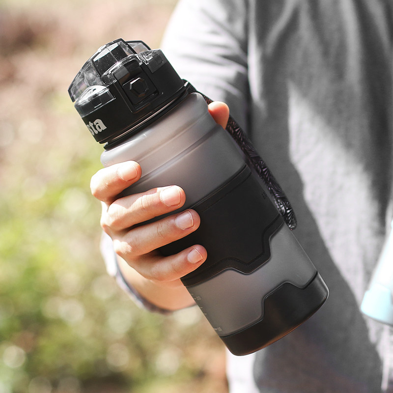 Fitness Water Sports Bottle Plastic KETTLE Students Portable Men Large Capacity Frosted 380ml 500ml 700ml 1000ml in Water Bottles from Home Garden
