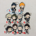 Haikyuu! Karasuno vs Nekoma Anime Karasuno High School Doomed Battle Rubber Resin Keychain Pendant