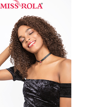 miss rola Hair brazilian Hair #2/4 kinkly Curly Human Hair Wigs For Black Women long Lace frontal Wigs 200g/pc Non-remy hair