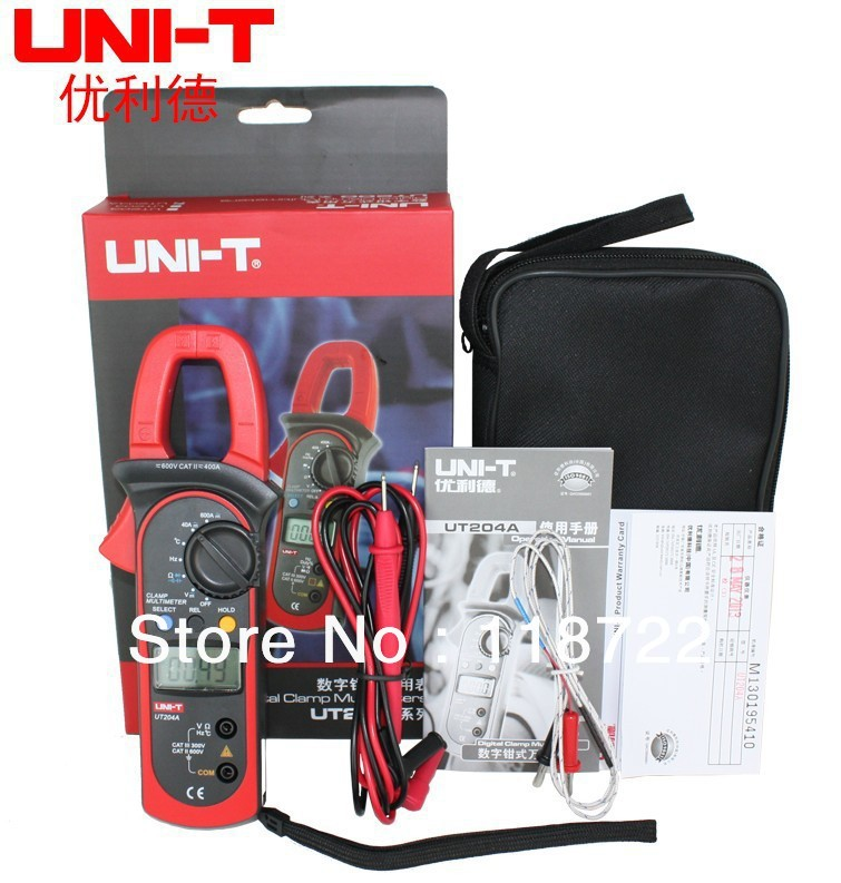 UNI-T UT204A DC/AC Voltage Current Digital Clamp Meter with Resistance, Capacitance, Frequency and Temperature Measurement  цены