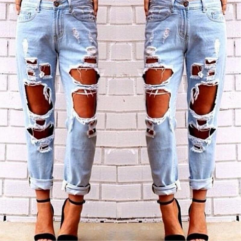 Online Get Cheap Distressed Boyfriend Jeans -Aliexpress.com ...