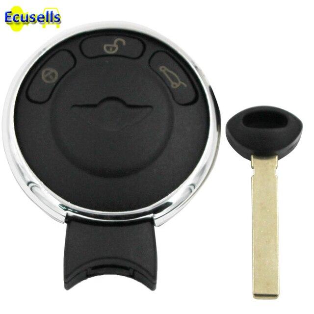 Reemplazo de 3 botones smart Remote Key case Fob Shell reemplazo sin llave entrada remota cubierta para BMW Mini Cooper R56