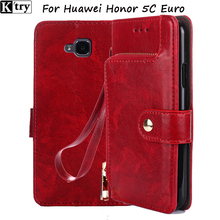 For Huawei Honor 5C Euro Version NO Fingerprint Hole Case Coque Funda Wallet Flip Cover PU Leather Case for Huawei Honor 5C Case