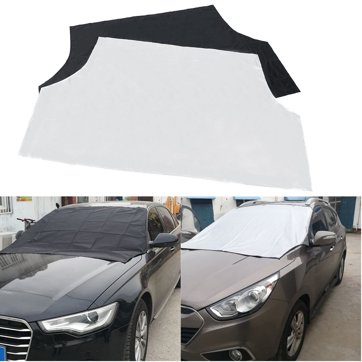215 X 125cm Car Magnet Windshield Snow Ice Frost Sun Cover Exterior Protection Shield Pouch For Truck Sunshade Cover
