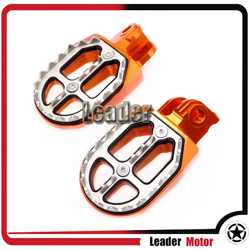 For KTM EXC SX SXF XC XCW XCF EXCF EXCW XCFW MX SIX DAYS 65 85 125 200 250 300 350 400 450 525 Billet MX Foot Pegs Rests Pedals  0584 new team graphics with matching backgrounds for ktm 125 200 250 300 450 500 exc xc w xcf w six days 2014 2015 2016