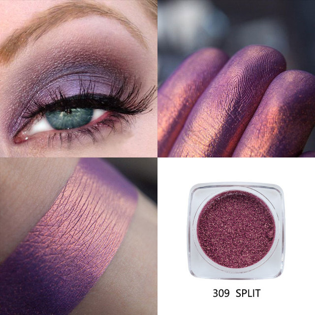 PHOERA Metallic Diamond Single Color Payoff Shimmer Eyeshadow Makeup Palette Glitters Powder Eye Shadow Pigmented Smoky Eyelids 4