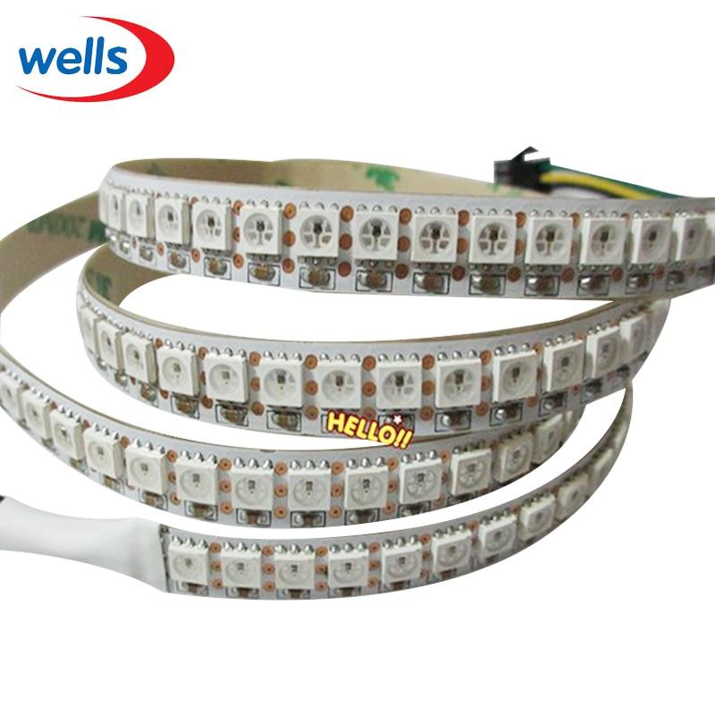 WS2812B Smart ledd pixelremsa 30/60/144 ledar / m WS2812 IC SMD 5050 - LED-belysning - Foto 4