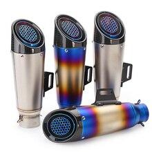 Silencieux déchappement universel slip on, 51/60mm, tube déchappement, pour moto R6 R1, CBR600, Z750, s1000r, sc