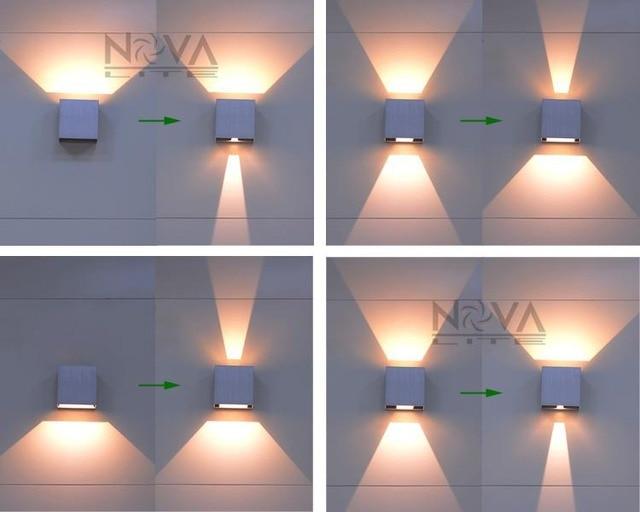 Cree luz de la pared exterior llev hasta abajo de for Apliques iluminacion exterior pared