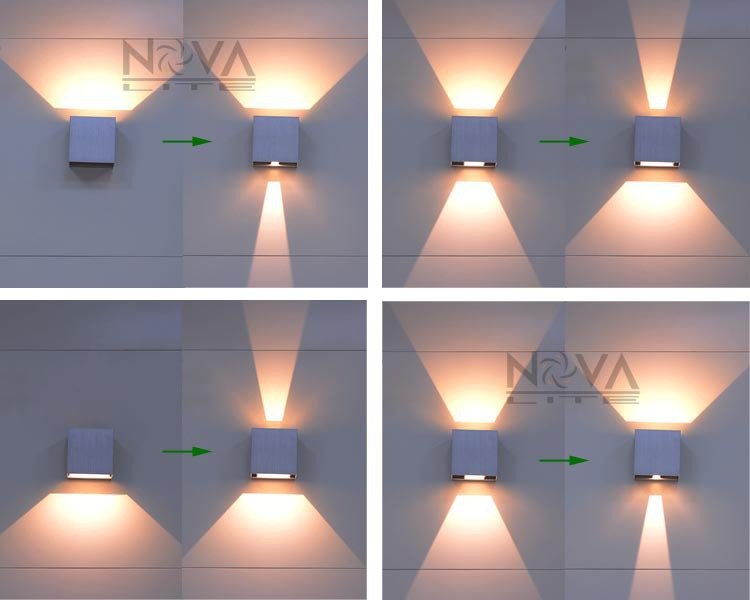 Cree Outdoor Wall Light Led Up Down Sconces Adjule Lamp Garden Ip65 6w Lighting 2pcs Per Lot