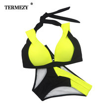 Sexy Bikini Push Up Swimwear 2019 Cross Patchwork Women Swimsuit Plus Size Bikinis Set XXXL