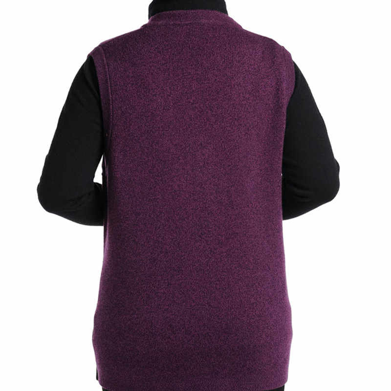 2016 새로운 가을, 겨울 노인 여성 캐시미어 니트 조끼 캐시미어 스웨터 조끼 비료 증가 팬 아트