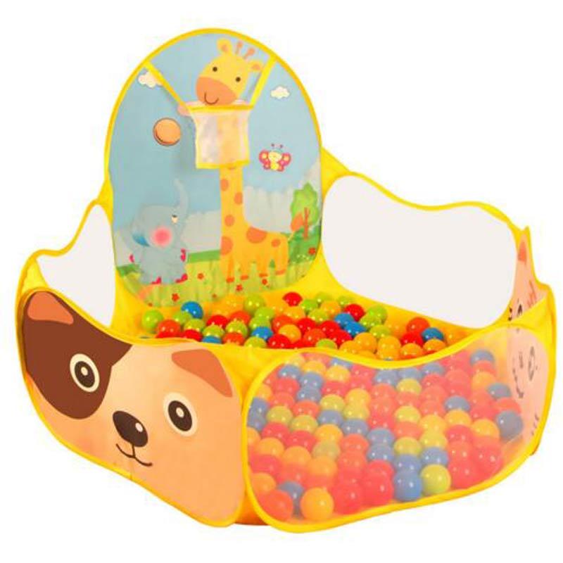 Baby Playpen Plastic Playpen 50pcs 6cm Balls+1.2M Baby Playpens For Outdoor/Indoor Tent Activity Fencing