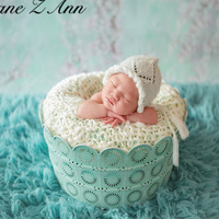 Jane Z Ann Bebé Taza de Té De hierro cesta Foto Props estudio de fotografía infantil apoyos de la fotografía regalo de la ducha accesorios fotografia