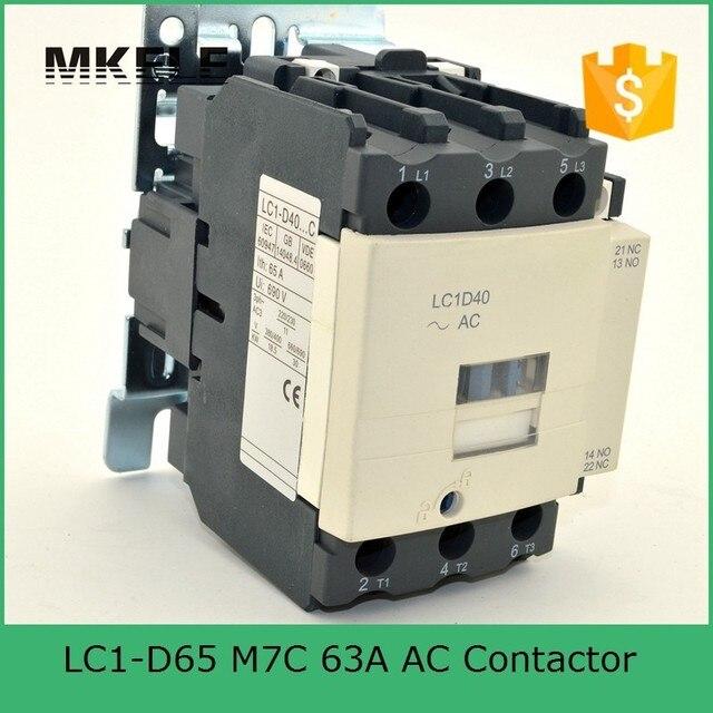 LC1 D65 M7C 65A AC Motorsteuerung Schütz Elektrische Magnetspule 24 ...