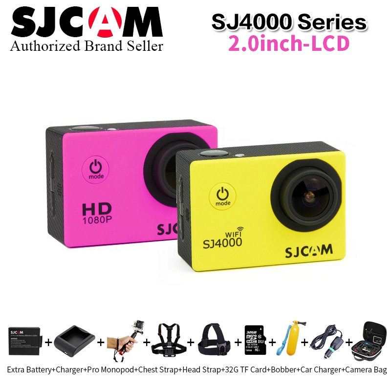 100% Original Sjcam Sj4000 SJ4000 WIFI 4000 2.0 Series 30M Waterproof Diving Sports Action Camera Sj Cam DVR mini m20 sport dv