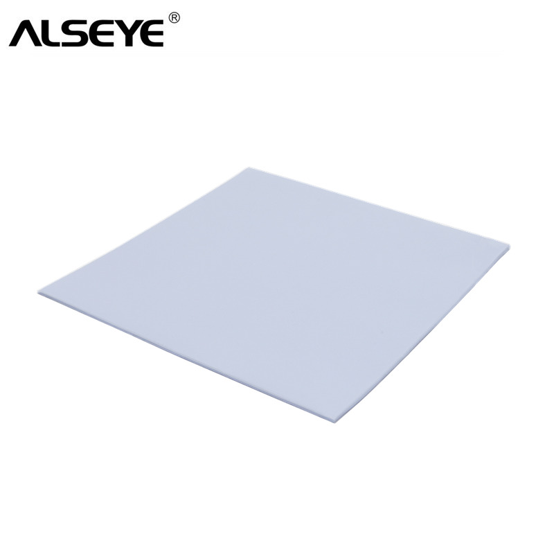 ALSEYE Thermal Pad 2W 100 x 100 x 1.25mm Thermal Grease Heatsink Cooling Pad mm for CPU GPU Heat Sinks diy silicone thermal pad heat conduct mat for heat sink blue 400mm x 200mm x 1mm