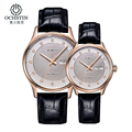 OCHSTIN Mens Brown Leather Band Watches Top Brand Luxury Mechanical Watch Water Resistant Calendar Authentic Watches Orologi Uom