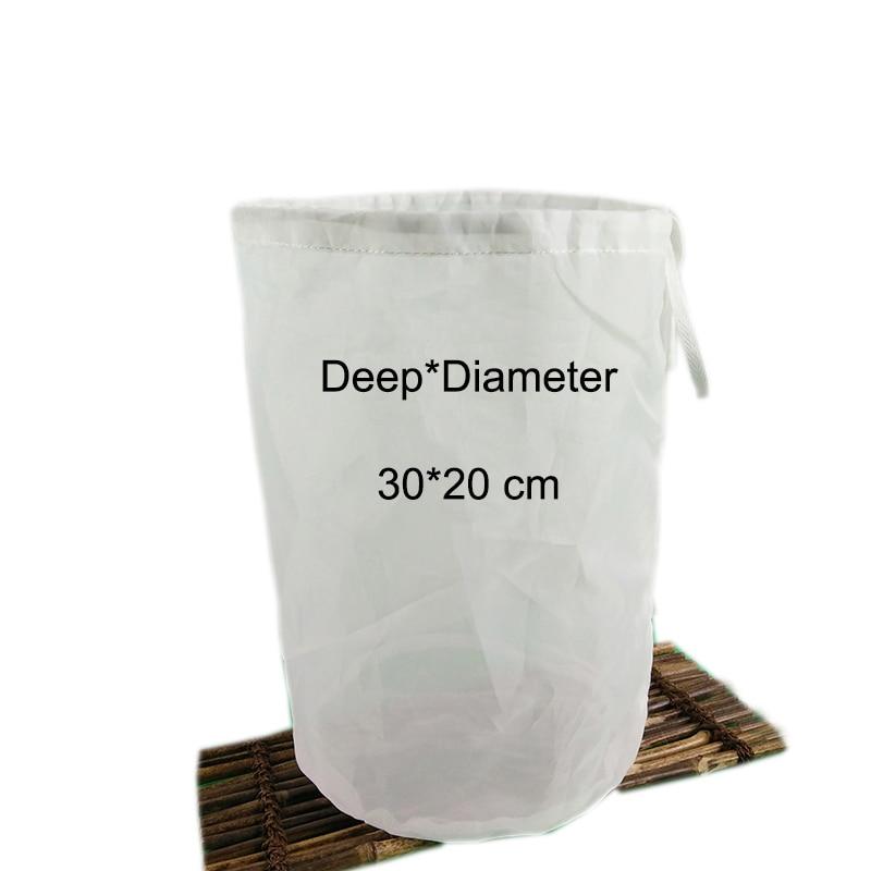 30*20cm 120M Nylon filter bag for Whiskey beer wine moonshine home brew homebrewing bucket fine mesh grain tea making filter bag
