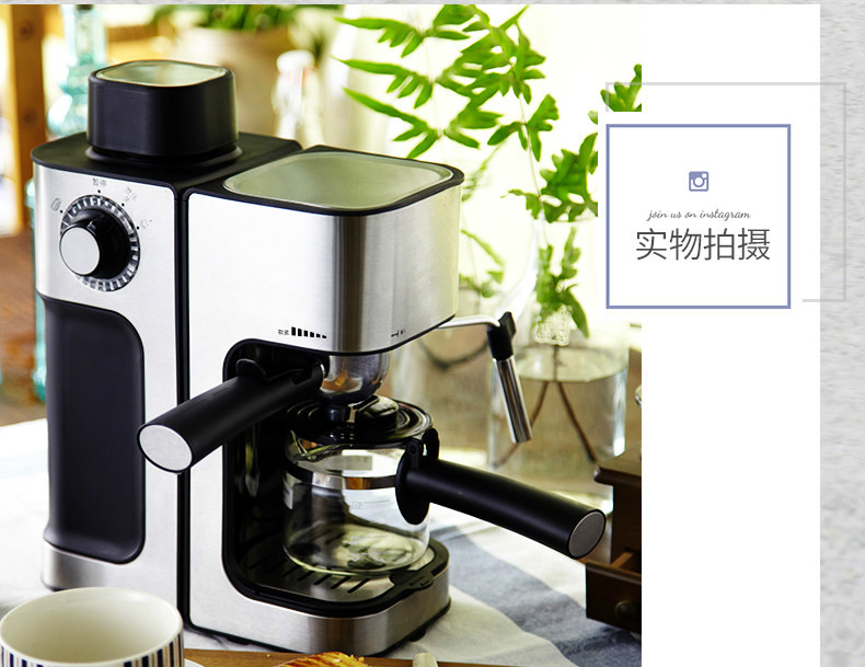 Espresso maker USES semi-automatic steam mini-pot  commercial use Vacuum Coffee Maker household italian semi automatic pump coffee machine pressure steam cappuccino coffee maker coffee pot cm 4656