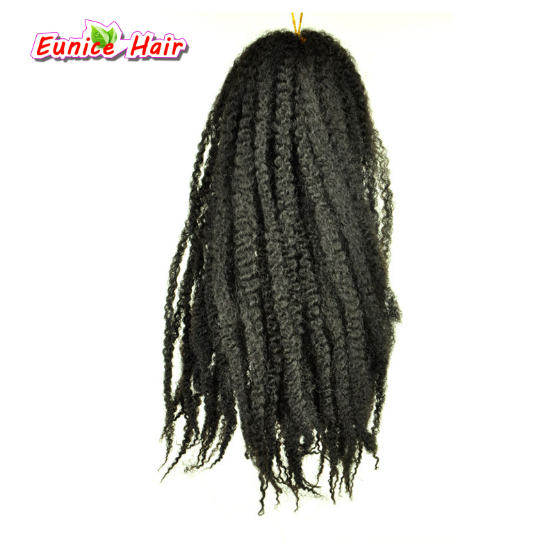 "Afro Kinky Marley Braid Crochet Twist Hair 18"" 30root 100g Synthetic Braiding Hair Extension High Temperature Fiber 3PCS"