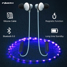 Power4 Neckband Bluetooth Earphone Headphones With Microphone Sweatproof Wired Headset For Sport Noise Cancelling Music Earbuds fbyeg bluetooth earphone wireless headphones bluetooth sport headset sweatproof earbuds bass noise cancelling with mic for phone