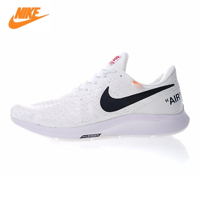 NIKE AIR ZOOM PEGASUS 35 Men's and Women's Running Shoes , White, Breathable Lightweight Non-slip Wear-resistant 942851 100 слипоны nike sb zoom stefan janoski slip black white