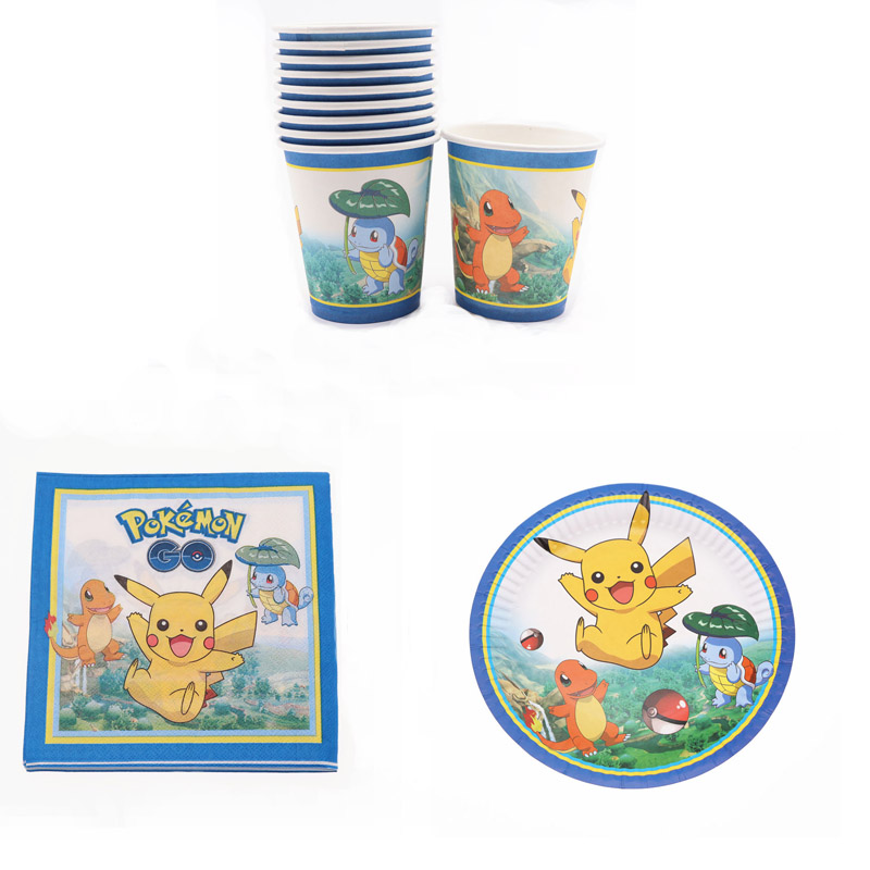 40Pcs Pokemon Birthday Party Decor Kids Disposable Tableware Set Napkin Cup Plate Baby Shower Wedding Decor Party Supplies40Pcs Pokemon Birthday Party Decor Kids Disposable Tableware Set Napkin Cup Plate Baby Shower Wedding Decor Party Supplies