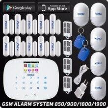 Inglés Ruso Kerui APP Sistema de Alarma GSM Inalámbrico de Control TFT Color Display Texto Autodial Antirrobo Sistemas de Alarma de Seguridad