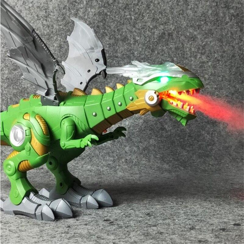 Модель электрических динозавров, игрушечный робот светильник светом, качели, Имитация Динозавра, игрушка для мальчиков, подарок для детей, ...