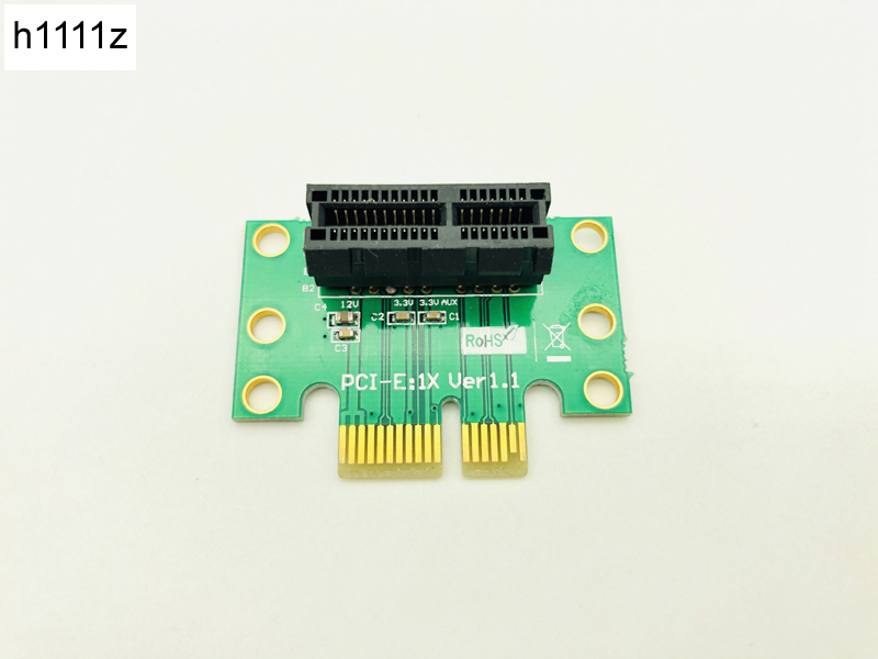 H1111Z Computer Connectors Riser PCI Express Riser Card X1 To X1 Slot 90 Degree Adapter For 1U Computer Server Chassis Wholesale