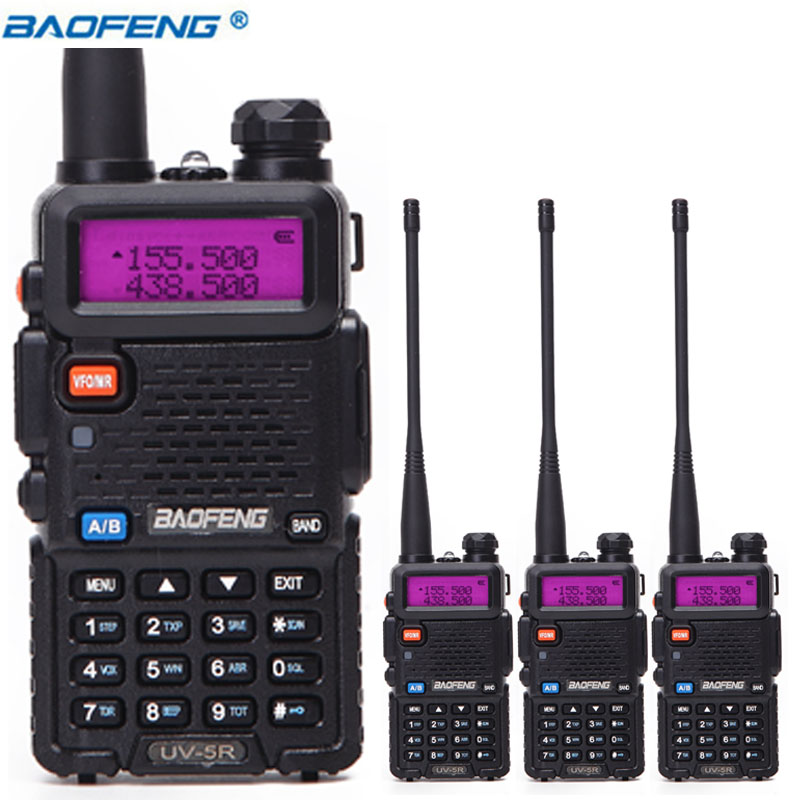 4 pcs BaoFeng UV-5R Talkie Walkie VHF/UHF 136-174 Mhz et 400-520 Mhz Double Bande CB radio Baofeng uv 5r Portable Talkie walkie uv5r