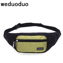 Weduoduo Men Waist Pack Bag Casual Women Travel Phone Belt Pouch New Canvas shoulder Fanny Money Hip