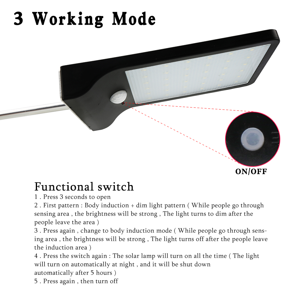 New Sensing Motion Solar Power LED Hang Light Outdoor Night Light for Garden Patio Deck Yard Fence Driveway Lawn
