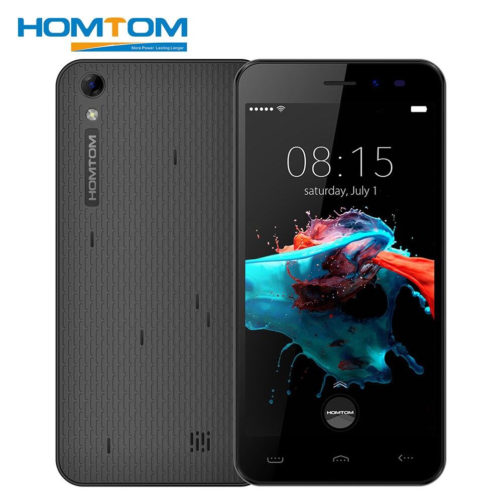 Homtom HT16 Smartphone 5.0 Pouce 1 GB RAM 8 GB ROM Android 6.0 Quad Core 1280x720 MT6580 3000 mAh 8.0MP Dual Sim Déverrouiller Mobile Téléphone