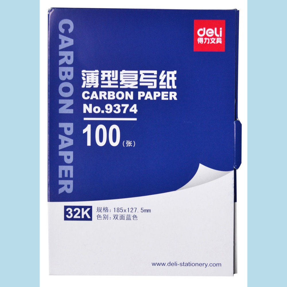 1 Bag 100sheets Blue Color Carbon Paper Include 3 Red Ones 32k 127.5x185mm Good Quality For Accounting Deli