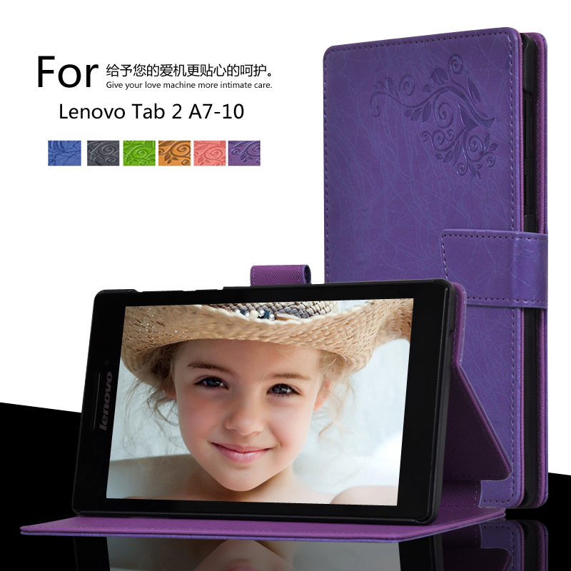 For Lenovo Tab 2 A7-10F A7-10 7.0 inch Tablet Printing Pattern Stand Cover Protective Print Flower Leather Case new slim folio bracket for lenovo a7 20f standing tablet cover for lenovo tab 2 a7 20 flip protective tablet case