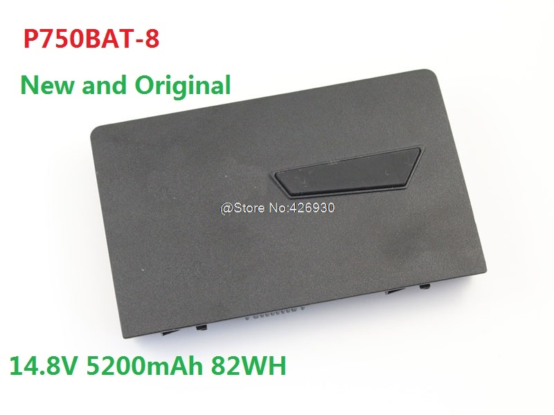 все цены на Laptop Battery For CLEVO P750ZM P751ZM P771ZM P770ZM P775DM3-G P770ZM-G P750BAT-8 14.8V 5200mAh 82WH 6-87-P750S-4U74 New онлайн