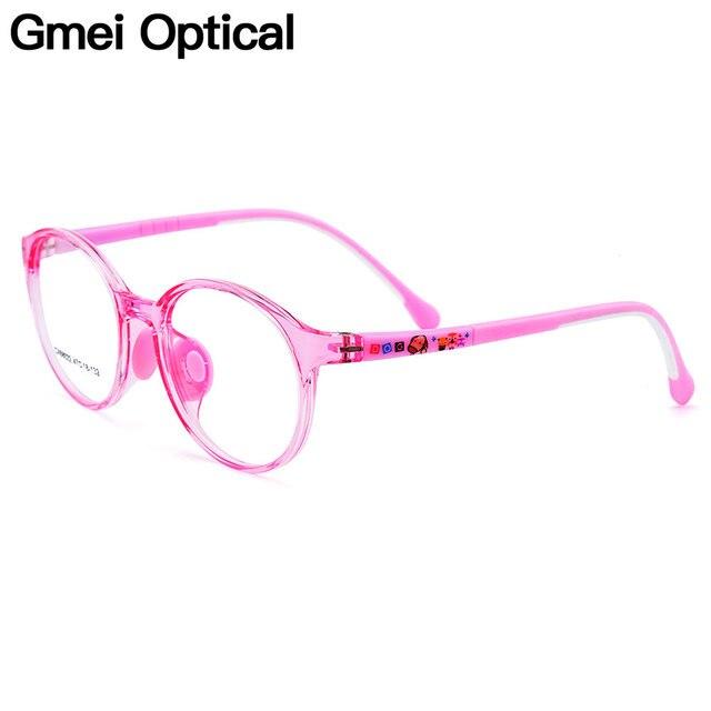74eff6d205328 Gmei Optical Bonito Dos Miúdos Designer Óculos Ultra-leve TR90 Flexível  CX68022 Sílica Gel Confortável