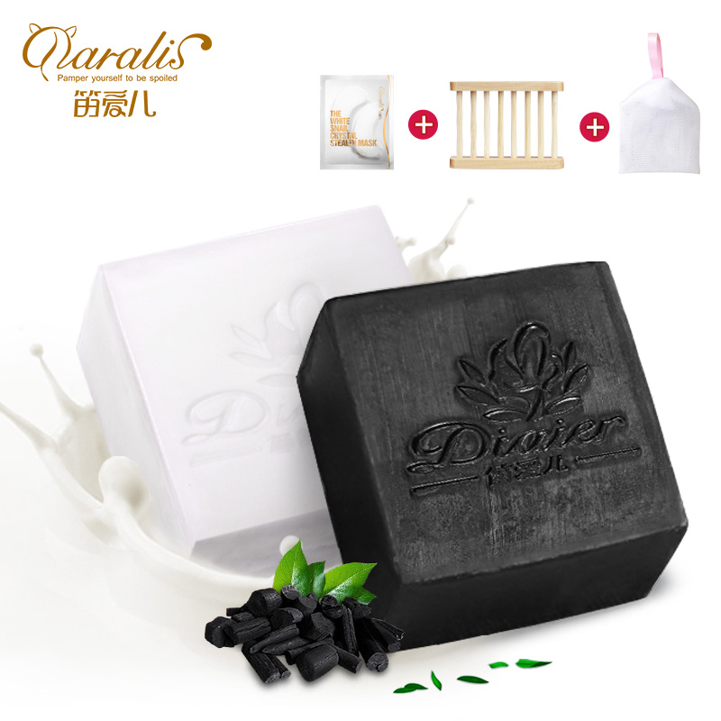 2017 goat milk&bamboo charcoal handmade soap cleanser oil control whitening TONY MOLY Free Shipping сыворотка tony moly ac control whitening after spot