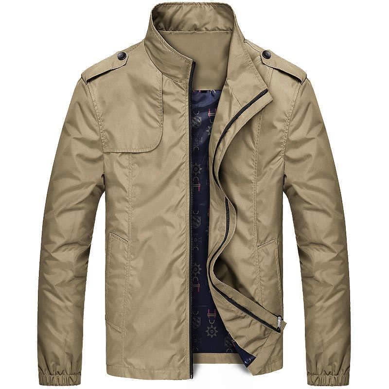 Jacket Men New Brand Men's Fashion Long Sleeve Coats Male Slim Fit Solid Casual Jackets Windproof Outwear Jaqueta Veste 617