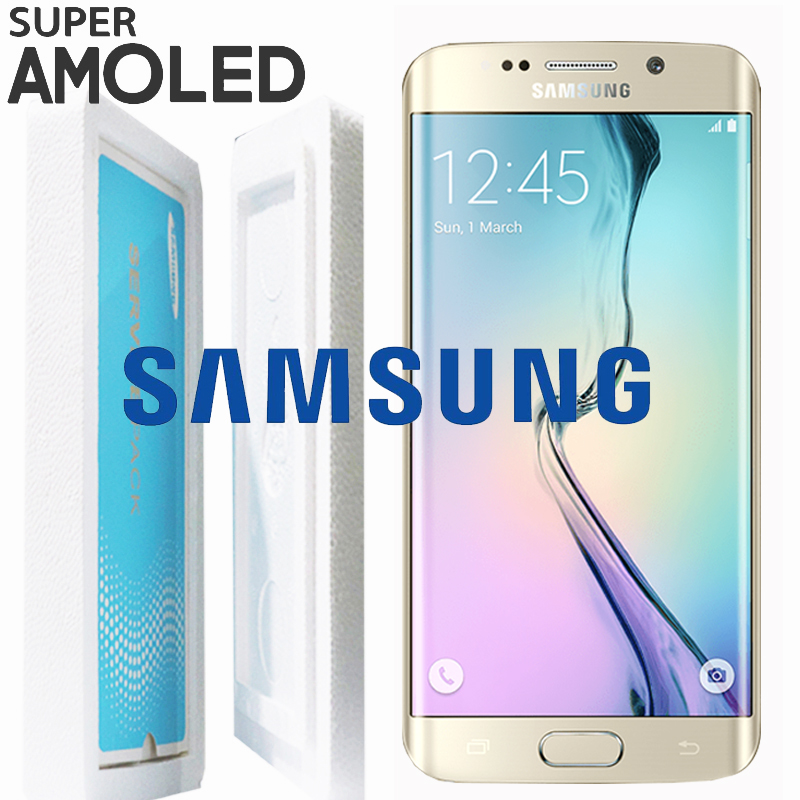 Dark Blue Gold White Original 5.1'' SUPER AMOLED for SAMSUNG Galaxy s6 edge Display G925 G925F G925I Touch Screen Digitizer