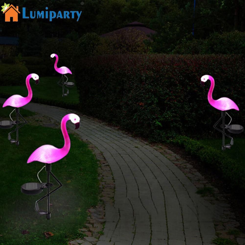 Led Solar Garden Light Simulated Flamingo Lawn Lamp Waterproof Solar Led Lights For Outdoor Garden Decoration Lighting