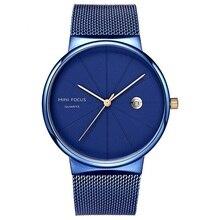 Luxury Quartz Watch Men Waterproof Calendar Mesh Strap Wristwatches Clock Stainless Steel Wrist Watches Male Relogio Masculino цена и фото
