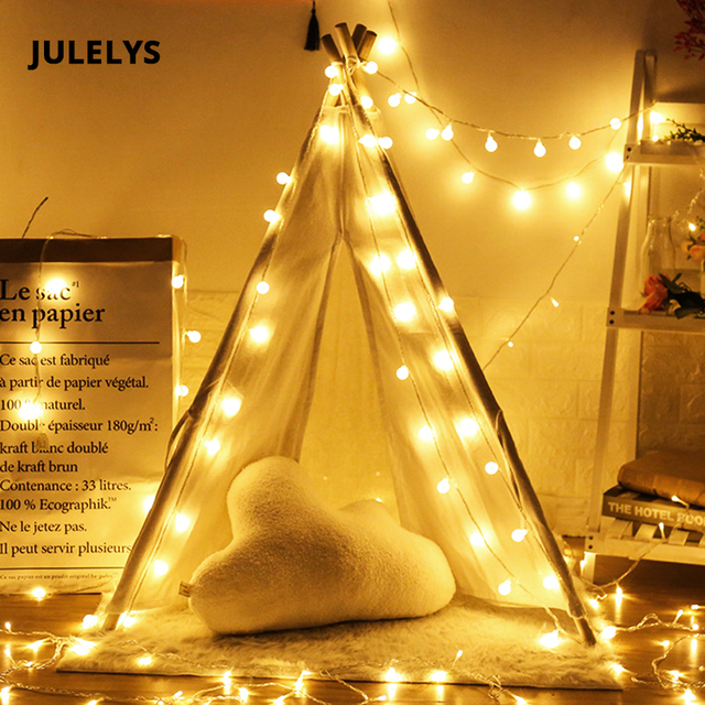 julelys 30m 300 bulbs garland window ball led string lights outdoor christmas lights decoration for wedding