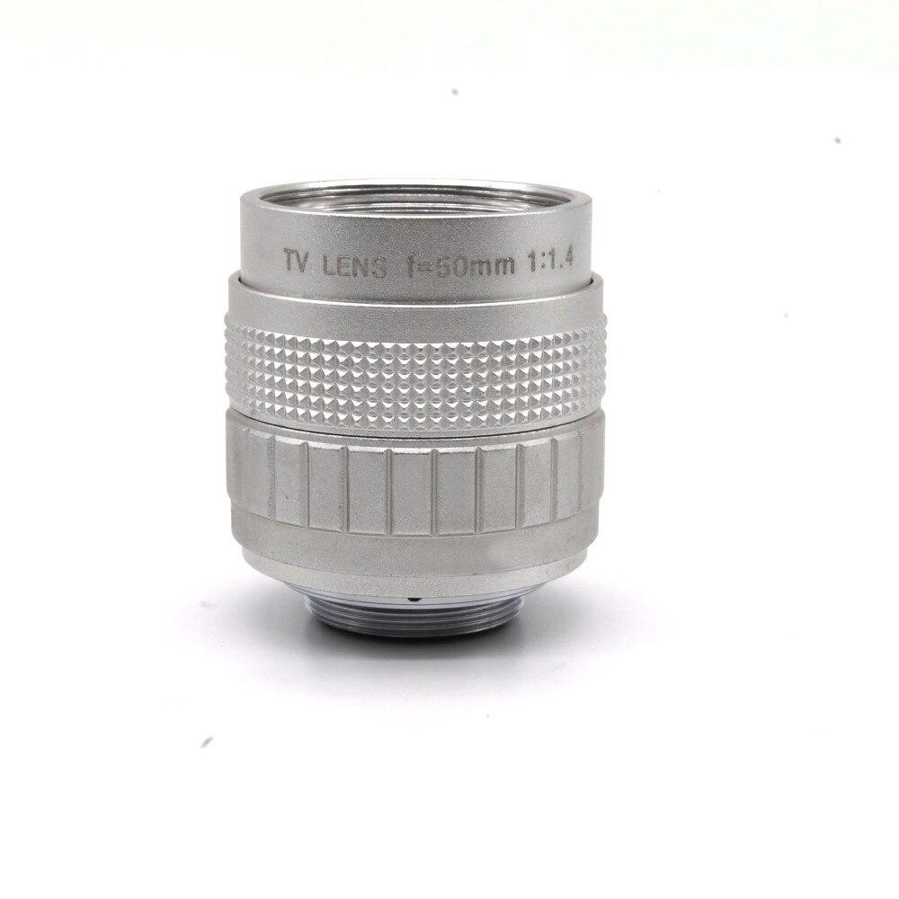 50mm f1.4 fujian CCTV TV lentille C monture pour GF3 GF2 GF1 G3 GH1 GH2 EP1 EP2 EPL1 EPL2 livraison gratuite et numéro de suivi