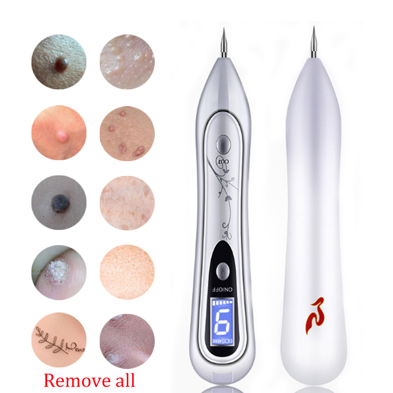 9 Level LED Laser Mole Removal Pen Removal Dark Spot Remover For Face Wart Tag Tattoo Removal Pen Salon Face Beauty Skin Care